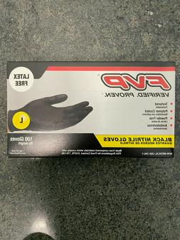 FVP Black Nitrile Gloves Large Latex Free Textures Polymer C