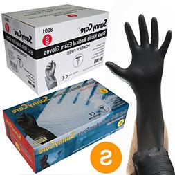 Sunnycare #8901 Black Nitrile Medical Exam Gloves Powder Fre