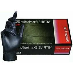 SKINTX Black Nitrile PF Exam Disposable Gloves BLK50005- Sma