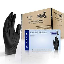 1st Choice Black Nitrile 4 Mil Thick Disposable Gloves Large