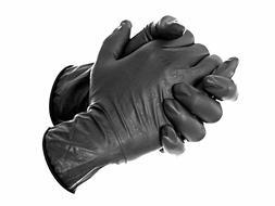 2 20 50 100 500 1000 Black Tattoo Gloves - Rubber Latex Nitr