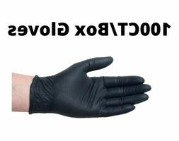 BLACK VINYL NITRILE BLEND GLOVES Powder Free and Non-Latex M