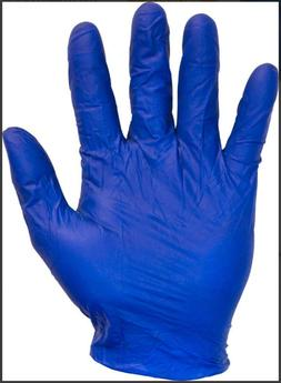 THE SAFETY ZONE BLUE 5 MIL LATEX GLOVES, 100 PCS, SIZE: XLAR