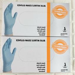 SupplyMaster Blue Nitrile Exam Gloves Powder Latex Free 200