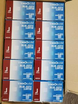 blue nitrile glove disposable large lot of