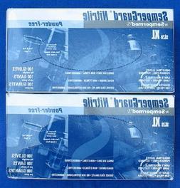 Sempermed 4-Mil Blue Nitrile Gloves-Extra Large-Box/100, X-L