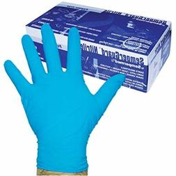 Sempermed 4-Mil Blue Nitrile Gloves-LargeBox/100, Large