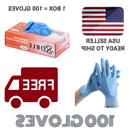 Blue Nitrile Gloves Powder Free  MEDIUM Exam Grade - 100 Per
