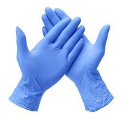 Blue Nitrile Powder Free Gloves Exam Gloves, 100 Count, High