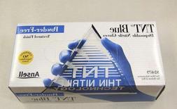 Blue Nitrile Powder Free Gloves Medical Exam Large 100 Piece
