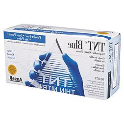 """Ansell Large Blue 9 1/2"""" TNT® Blue 5 mil Nitrile Ambidextro"""