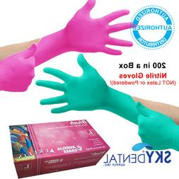 blush nitrile latex free medical exam gloves