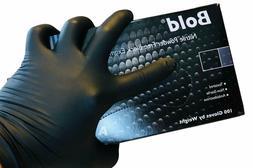 AURELIA BOLD Black Nitrile Powder Free Gloves XLARGE Box 0f