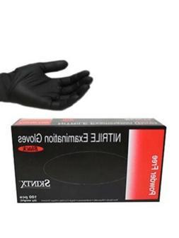 Box of 100 Sealed Skintx Nitrile Exam Powder Free Gloves Bla