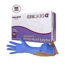 Dealmed Brand Nitrile Medical Grade Exam Gloves, Disposable,