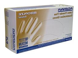 Adenna Bronze 5 mil Latex Powder Free Exam Gloves  Box of 10