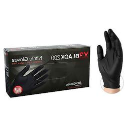 AMMEX BX3D Black Nitrile Industrial Latex Free Disposable Gl