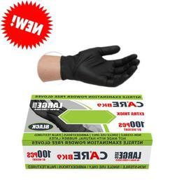 "CARE BLACK 6-mil 9"" Nitrile Powder-Free Examination Gloves-B"