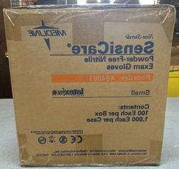 Case of 1000 - Medline Sensicare Powder-Free Nitrile Exam Gl