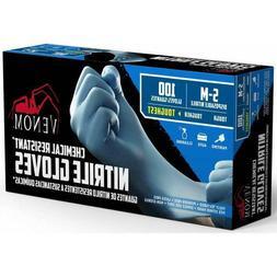 VENOM Chemical Resistant Disposable Nitrile Gloves 4 Mil Thi