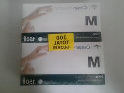 Medline Clear-Touch Vinyl Multi-Purpose Gloves, Medium - 150