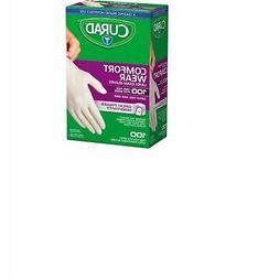 Curad CUR4125R Latex Exam Gloves, One Size Fits Most