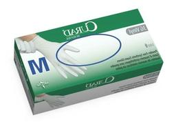 Medline Curad 3G Vinyl Exam Gloves, Powder-Free, Latex-Free,