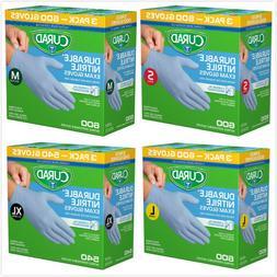 Curad Durable Nitrile Exam Gloves, S, M, L, , XL-540 counts