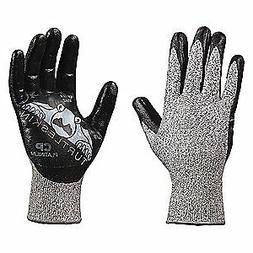 TURTLESKIN Cut Rsistnt Gloves,Blk/Slvr,Nitrile,S,PR, CPP-300