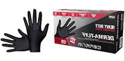 SAS Safety DermaTuff 6 mil Black Nitrile Exam Gloves 120 pcs