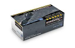 Diamond Black Advance NITRILE Heavy Duty P/F Gloves  FREE SH