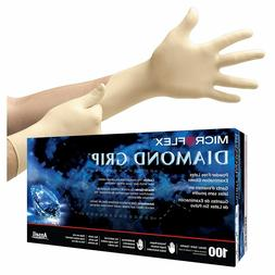 MicroFlex Diamond Grip Powder-Free Latex Examination 100 Glo