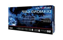 Microflex Diamond Grip Latex Gloves- Large- 100ct/box- MF-30