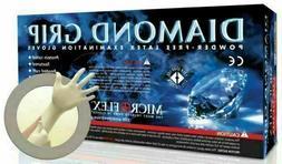 MICROFLEX DIAMOND GRIP POWDER FREE LATEX EXAM GLOVES