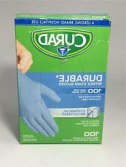 Curad Disposable Gloves Powder-Free Nitrile Exam Gloves 100