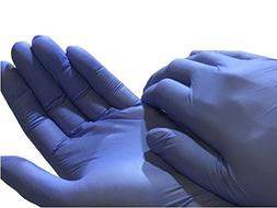disposable nitrile exam powder gloves