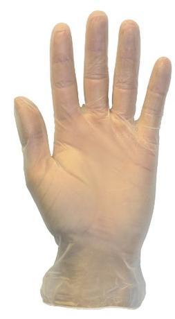 Disposable Vinyl Exam Gloves - Clear, Medical Grade, Powder