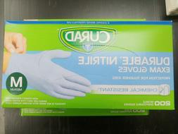 Curad Durable Nitrile Exam Gloves Chemical Resistant Medium