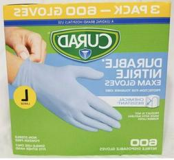 CURAD Durable Nitrile Exam Gloves CHEMICAL RESISTANT †  3