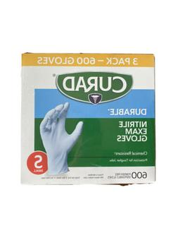 Curad Durable Nitrile Exam Gloves Chemical Resistant Small 3