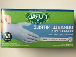 CURAD Durable Nitrile Exam Gloves - MEDIUM