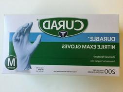 CURAD Durable Nitrile Exam Gloves  MEDIUM  200 Count Powder