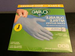Curad Durable Nitrile Exam Gloves Size Large L  600 Count Pa