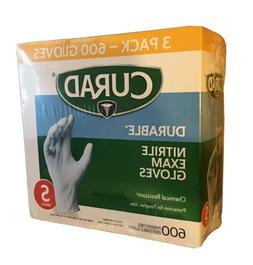 Curad Durable Nitrile Exam Gloves, Small, 600 ct MODEL CURNT