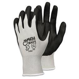 Economy Foam Nitrile Gloves  Small  Gray/Black  Dozen