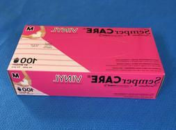 Sempermed #EVNP103 SemperCare Vinyl Exam Gloves, Medium - Qt