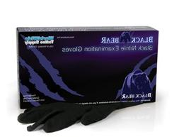 LARGE Black Bear Exam Grade Black Nitrile Disposable Gloves