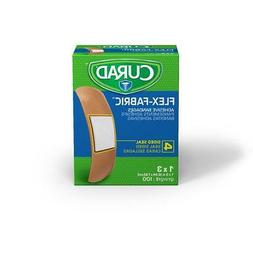 "Curad Fabric Adhesive Bandages - 1"" x 3"" - Box of 100 - NON2"