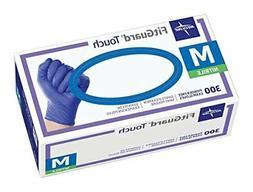 Medline FG3002 Fitguard Touch Nitrile Exam Gloves, Dark Blue