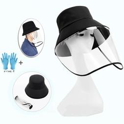 Fisherman Cap Transparency Face Shield Cover With 5 Pairs Ni